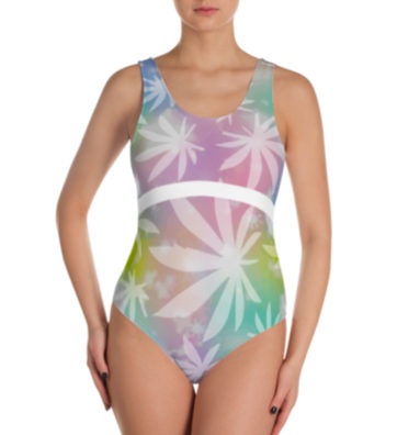 JUST GET HIGH _ RAINBOW LEAF_FRONT