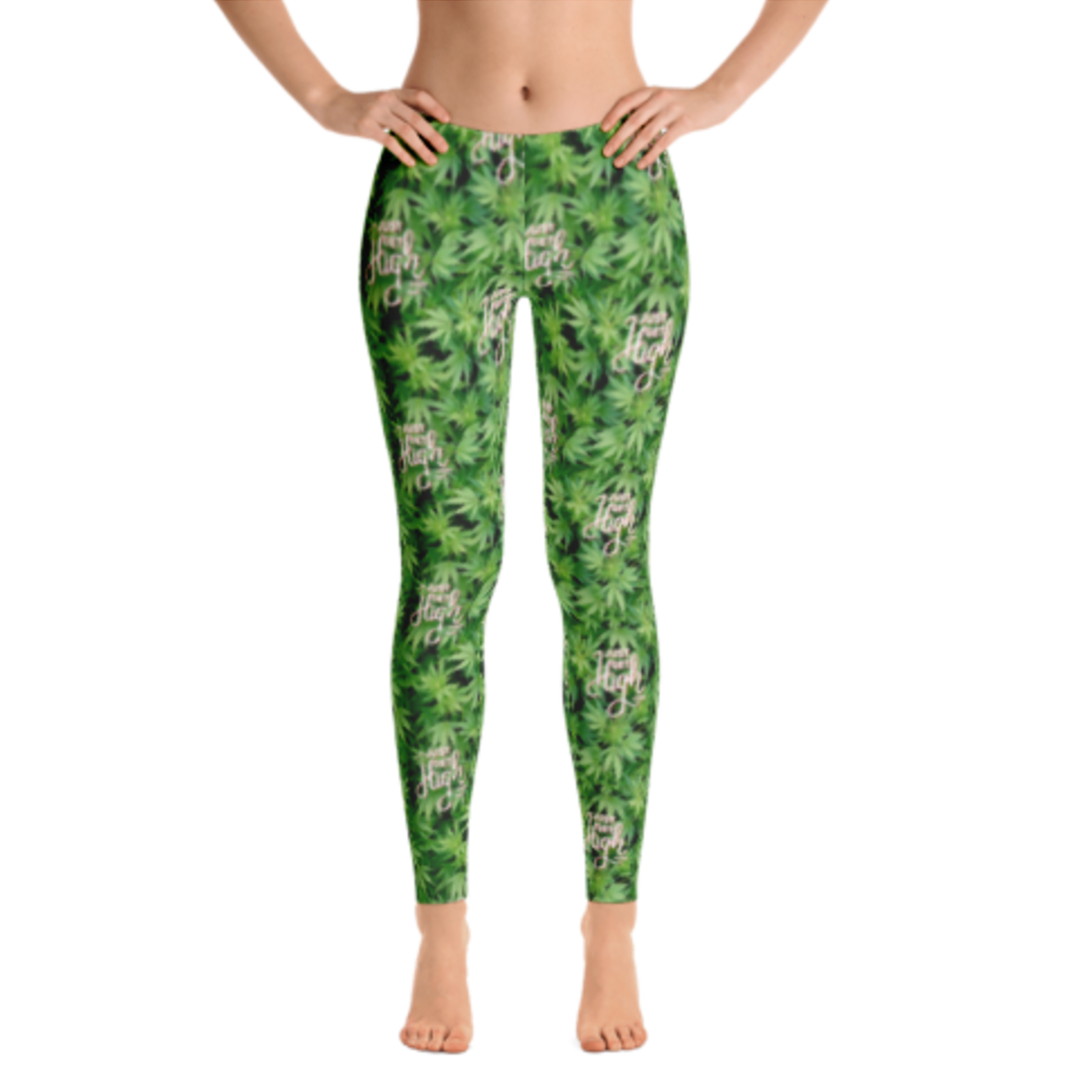 JUST GET HIGH_LOGO BAREFOOT_LEGGING