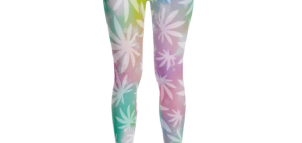 RAINBOW LEAF_BAREFOOT_LEGGING_SIDE