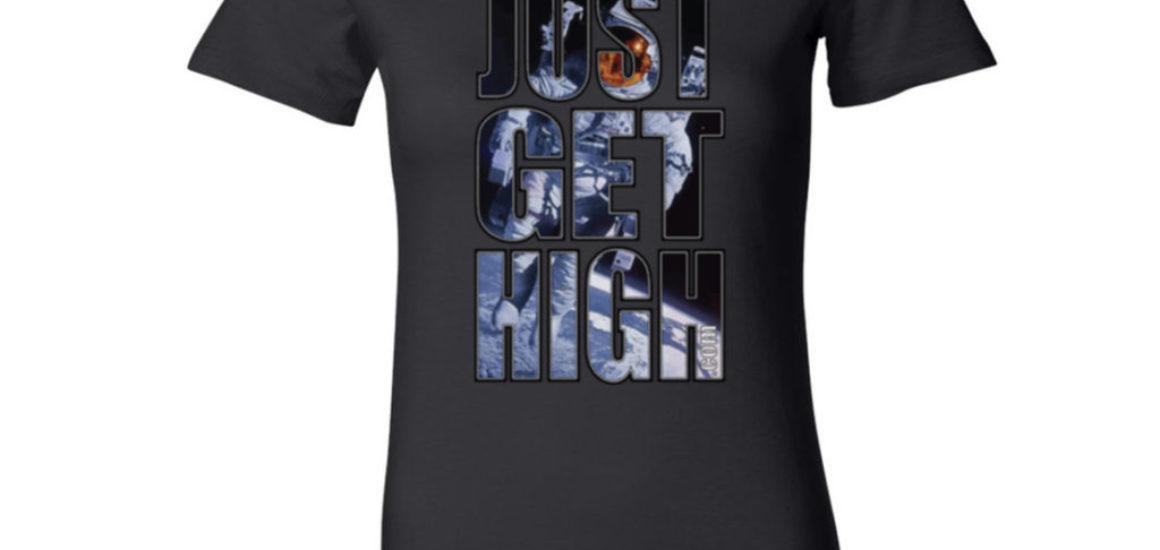 just get high logo_spaceman_black shirt