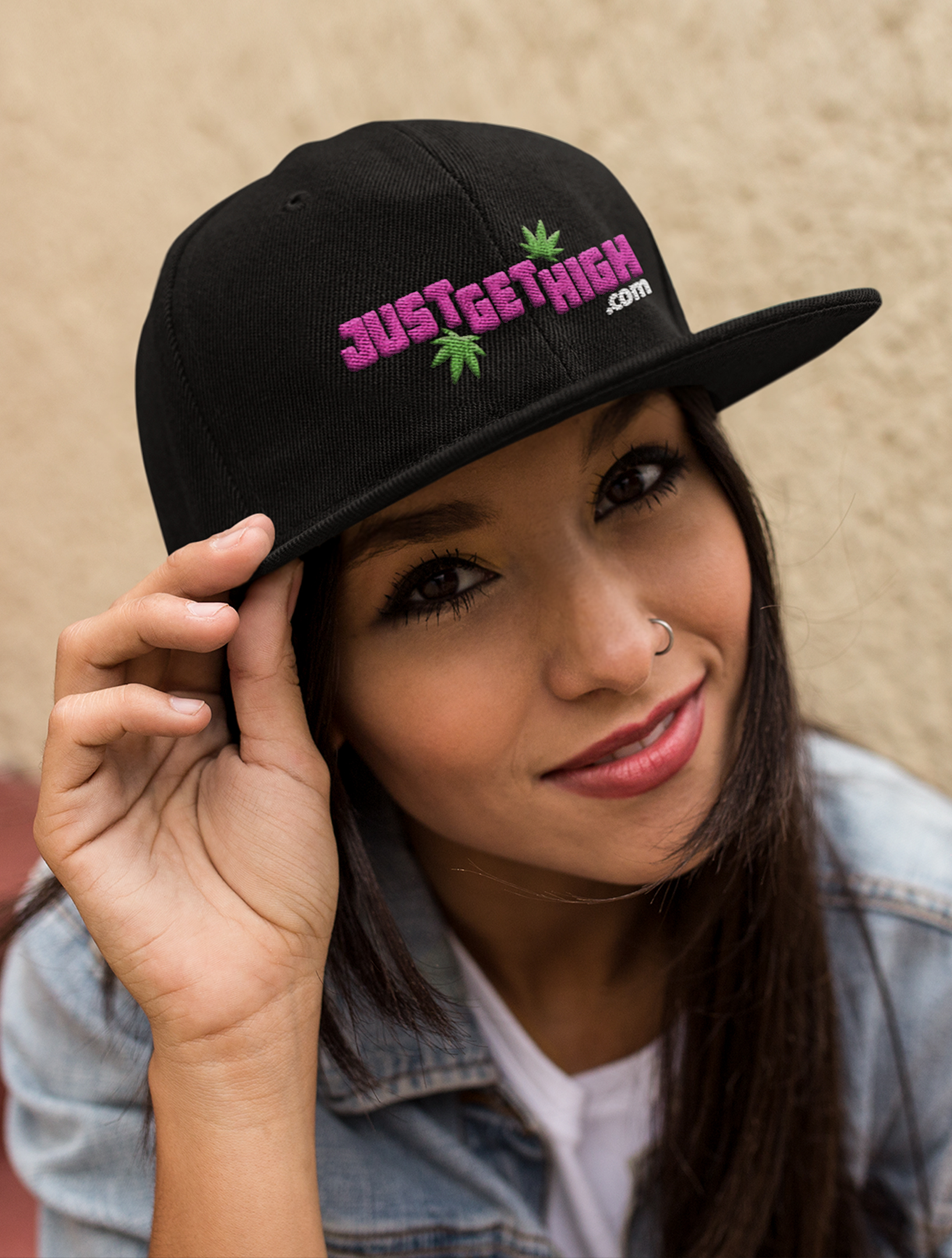 just get high_hat_lid_jgh logo_pink
