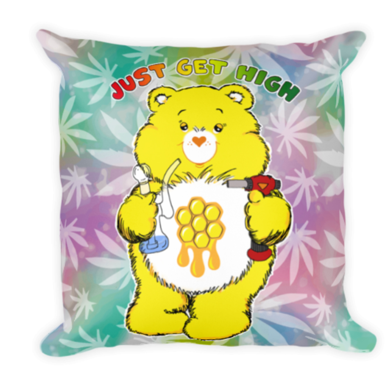 cannabear pillow_dab_front