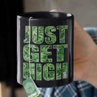 COFFEE MUGS: JUST GET HIGH™ • CLASSIC LOGO