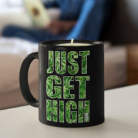 COFFEE MUG CANDLE: JUST GET HIGH™ LOGO