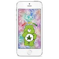 iPHONE SCREENSAVER: CANNABEAR GREEN