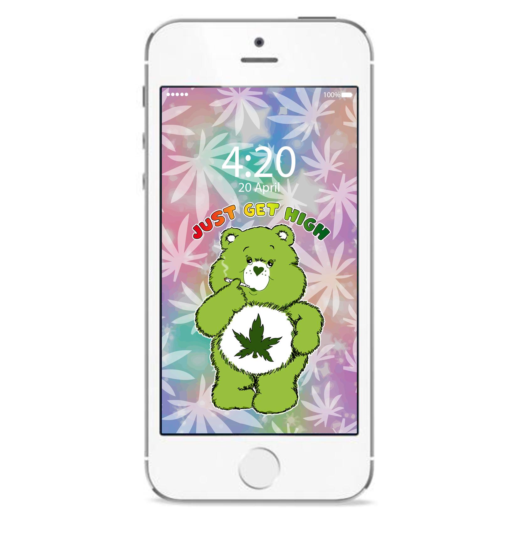 just get high_iphone_blazeybear leaf_mockup