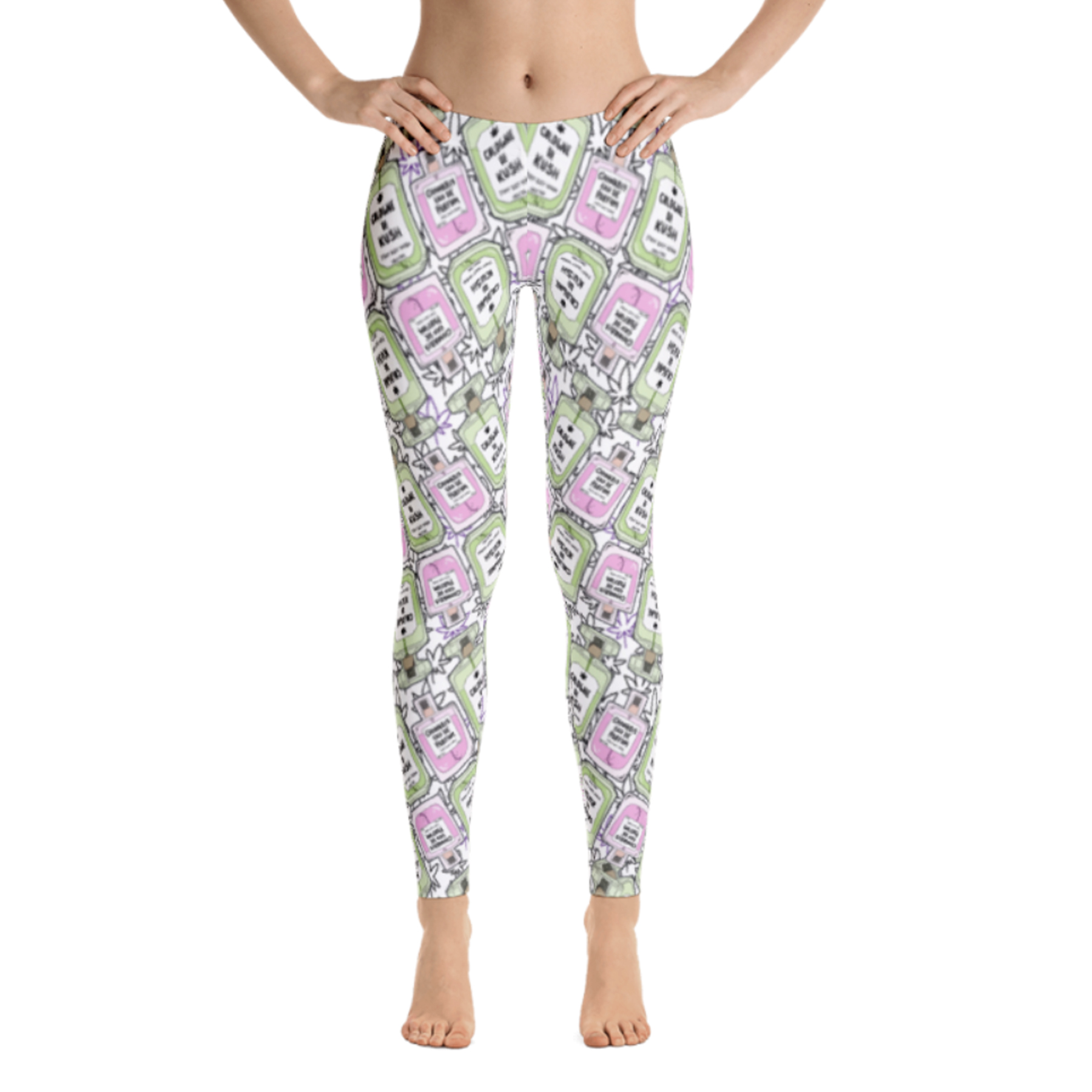JUST GET HIGH_bottles_LEGGING_front
