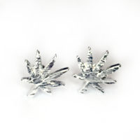 EARRINGS: CANNABIS LEAF