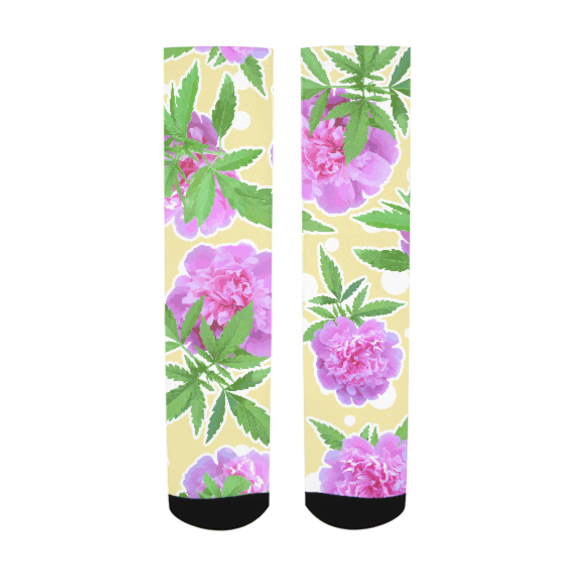 just get high_allover socks print_watercolor_dots