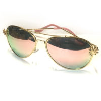 SUNGLASSES: CANNABIS LEAF AVIATORS