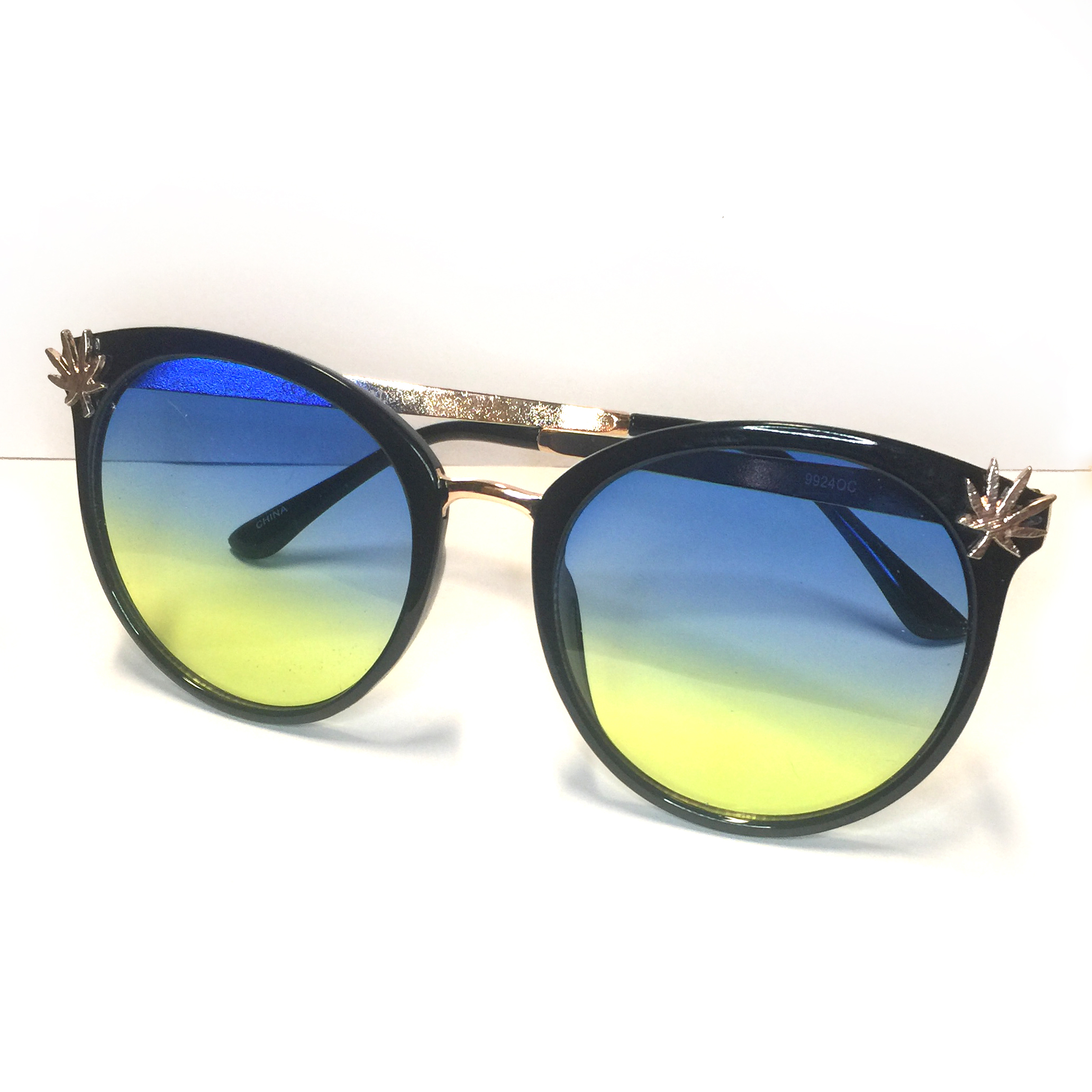 just get high_black frame and green_rose gold_sunglasses_a