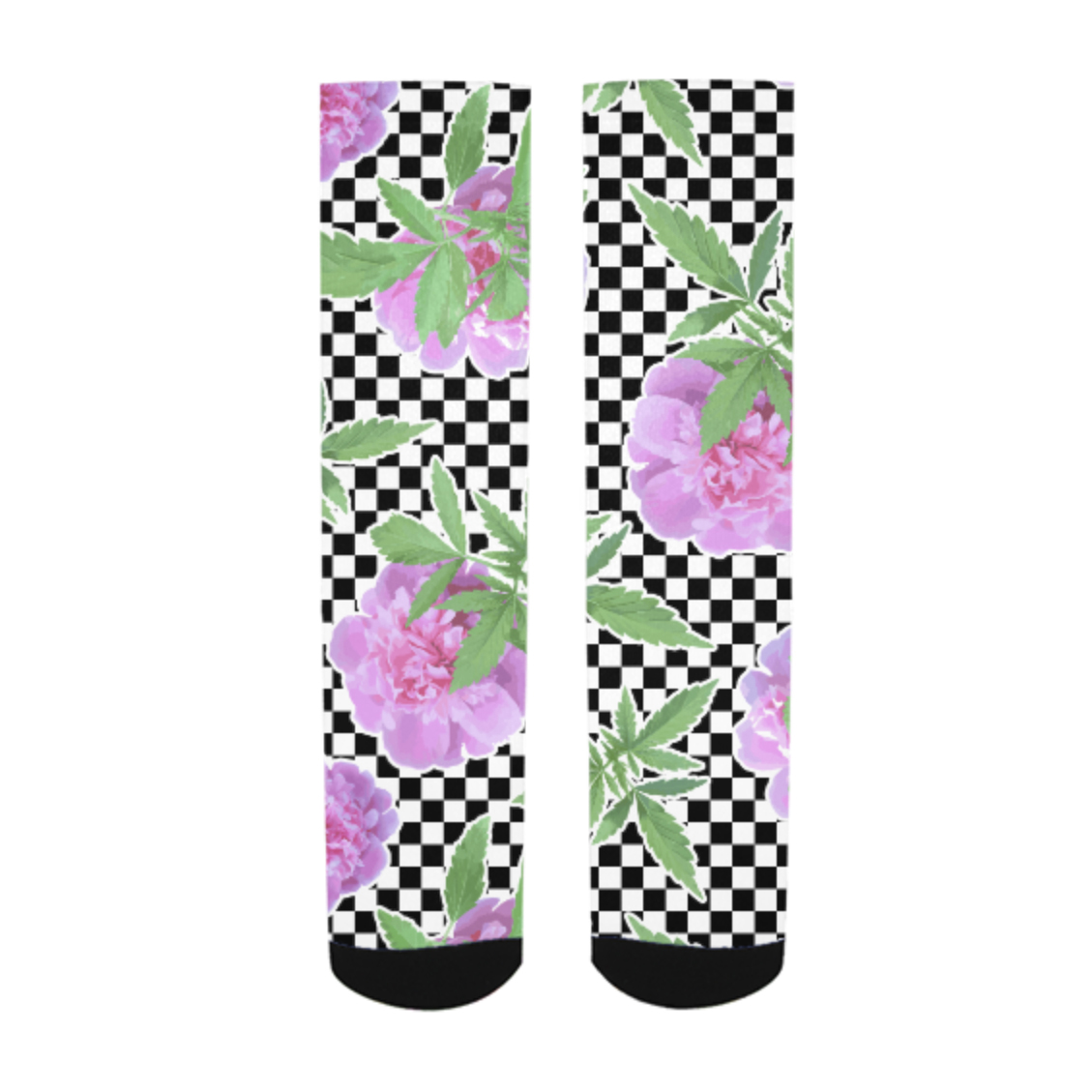 just get high_allover socks print_checker