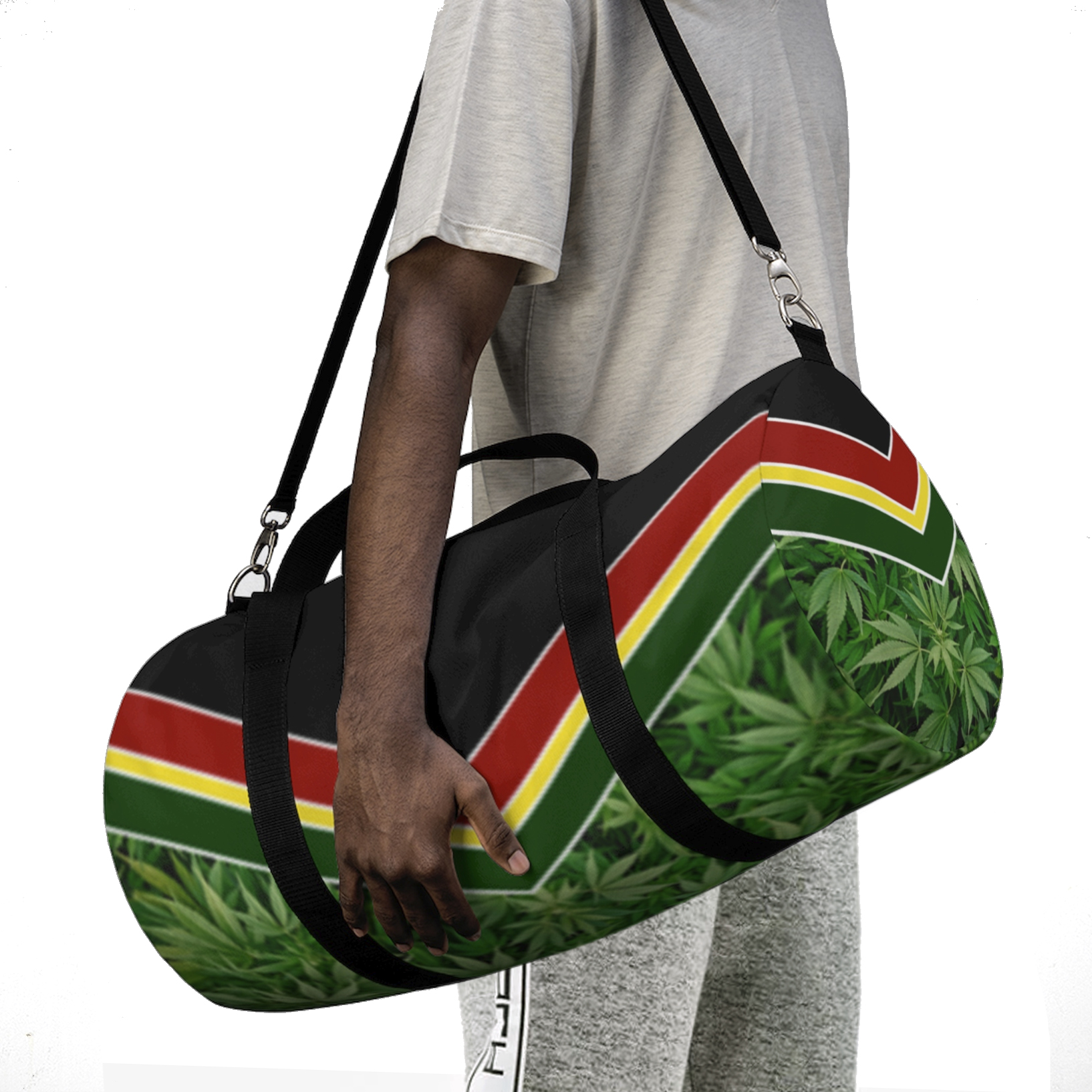 just get high_duffle bag_model 1