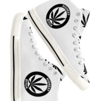 HIGHTOP SNEAKERS: HIGHEST BITCH • WHITE
