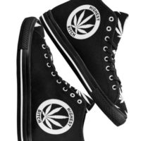 HIGHTOP SNEAKERS: HIGHEST BITCH • BLACK