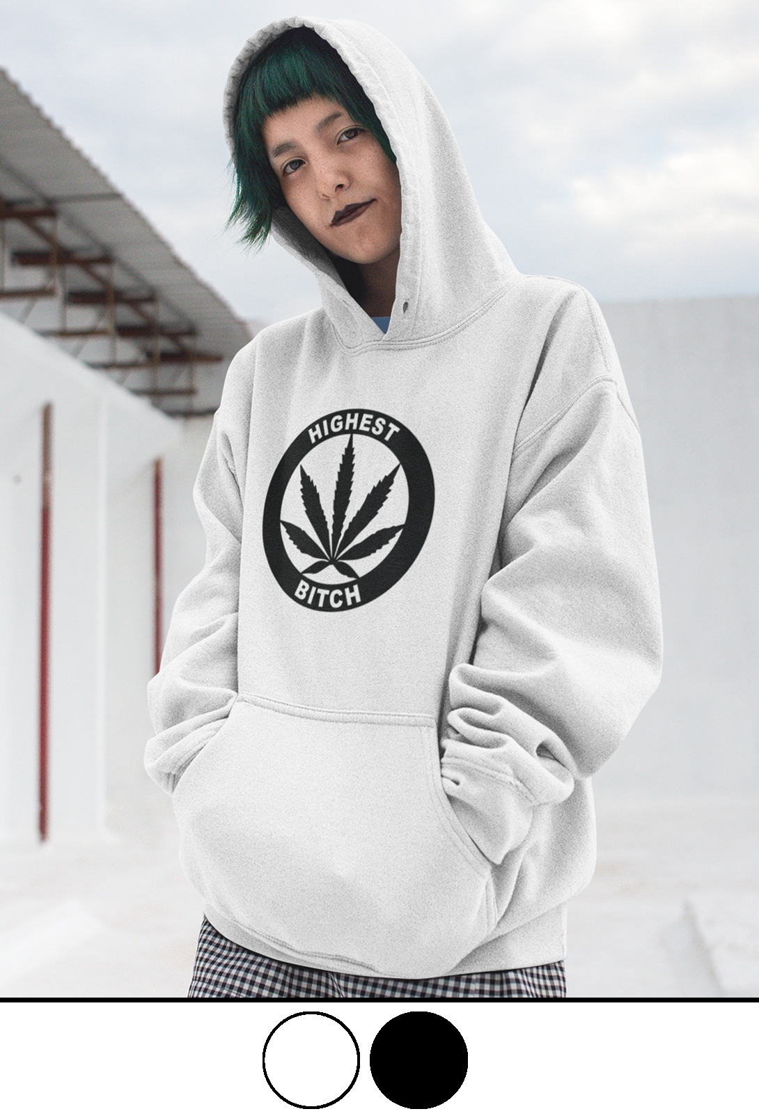 JUST GET HIGH_HIGHEST BITCH_LOGO HOODIE
