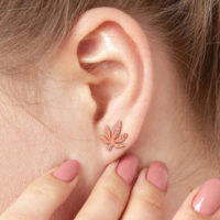 EARRINGS: DETAILED CANNABIS LEAF