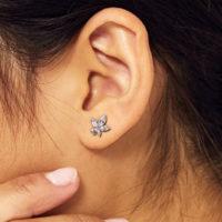 EARRINGS: CRYSTAL CANNABIS LEAF