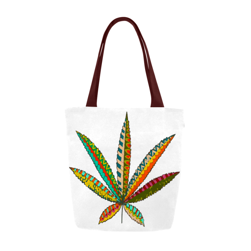 Just Get HIgh_tote_tribal leaf_front