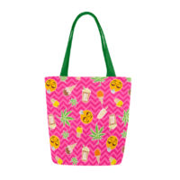 CANVAS TOTE: ZIG ZAG SUMMER