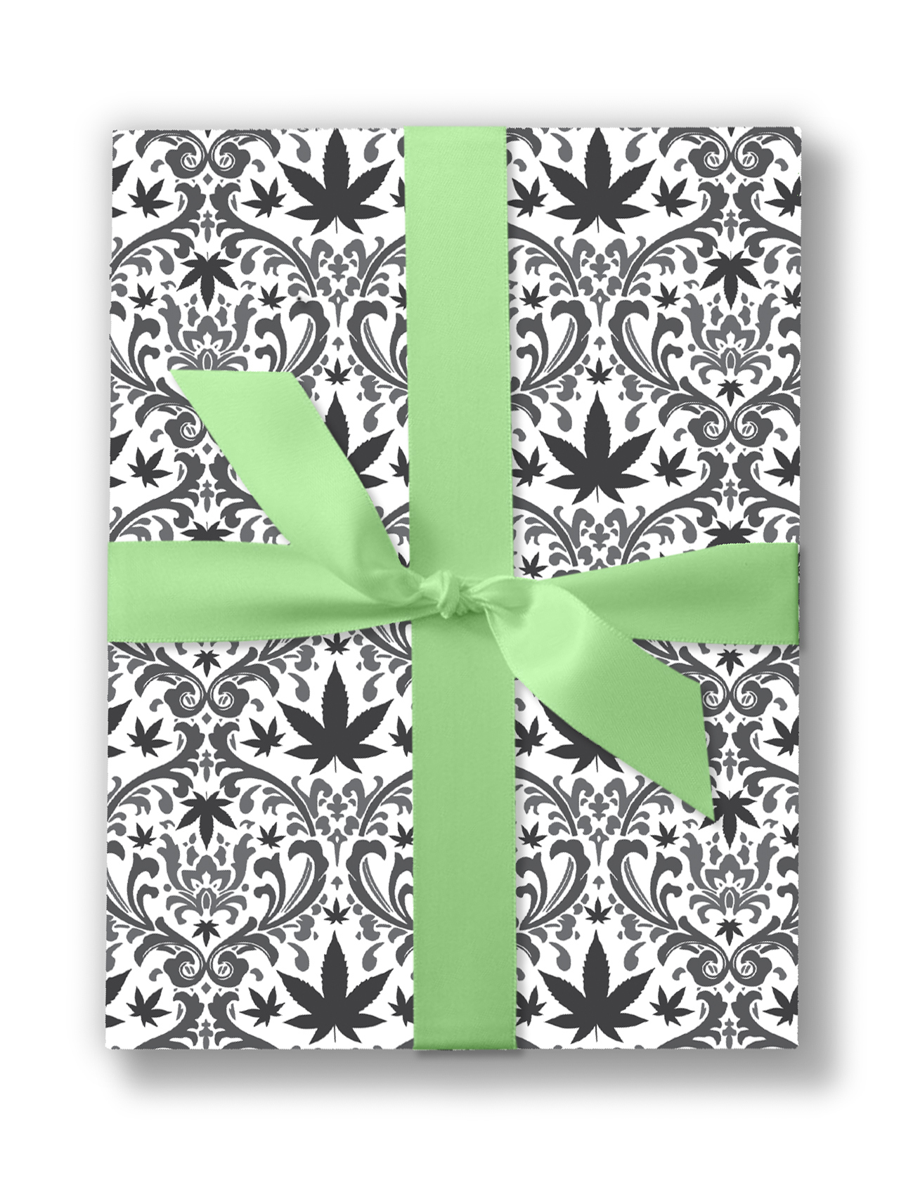 cannabis filagree_just get high_wedding wraping paper box