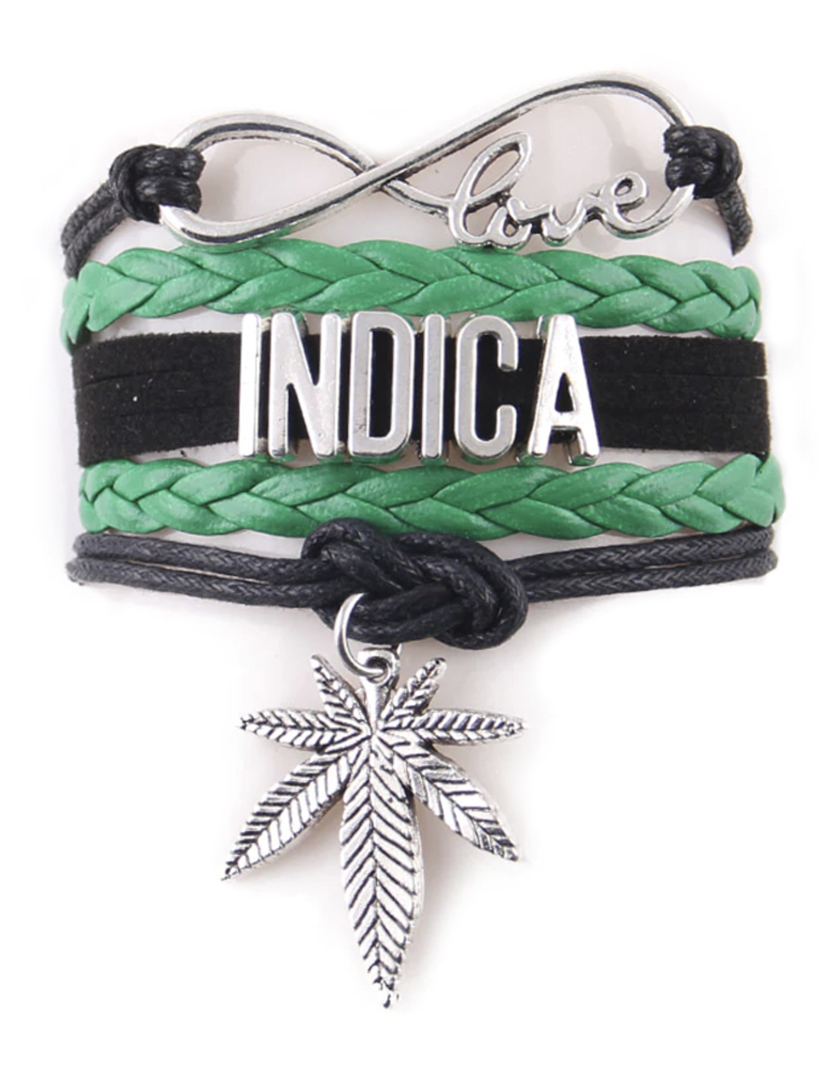 indica_bracelet_just get high_green and black