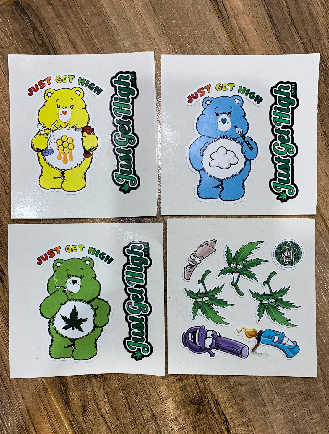 just get high_ stickers_slaps cannabear set