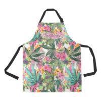 ADJUSTABLE APRON: WATERCOLOR LEAVES