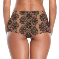 BOOTY SHORTS: NUDE CANNA-LACE