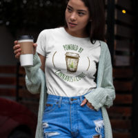 FITTED SHIRT: CANNABIS & COFFEE