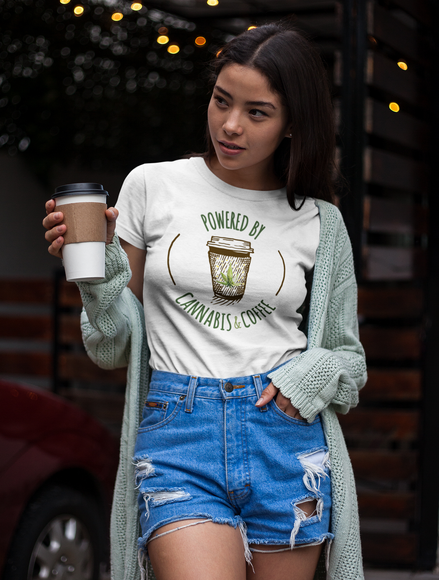 just get high_cannabis and coffee shirt