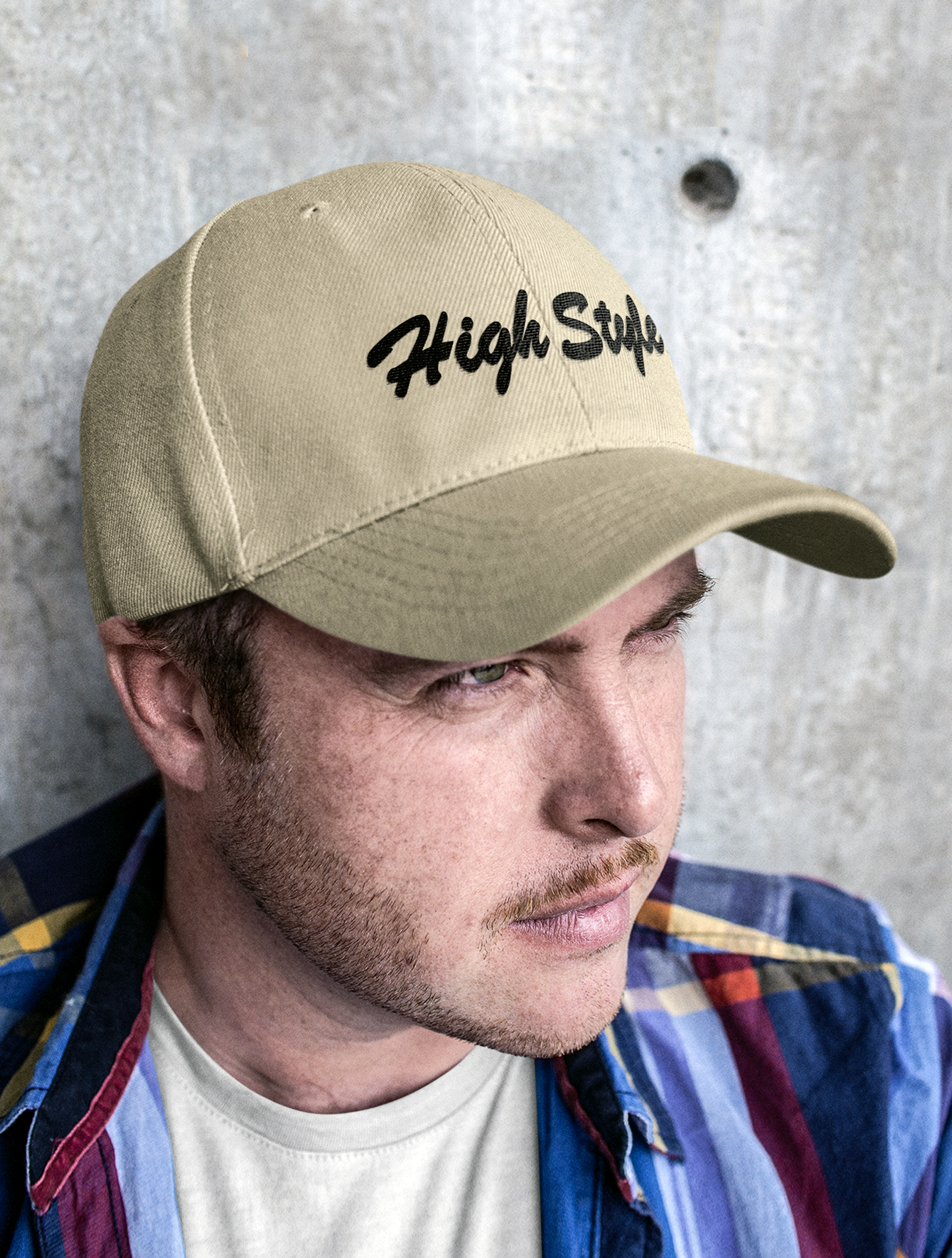 just get high_dad hat_lid_high style