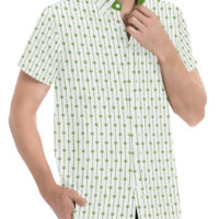 DRESS SHIRT: LINEAR LEAVES