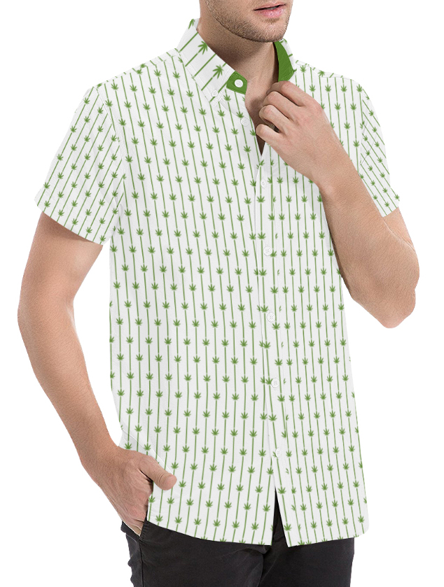 just get high_dress shirt pin_white and green