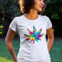 FITTED SHIRT: RAINBOW WEED