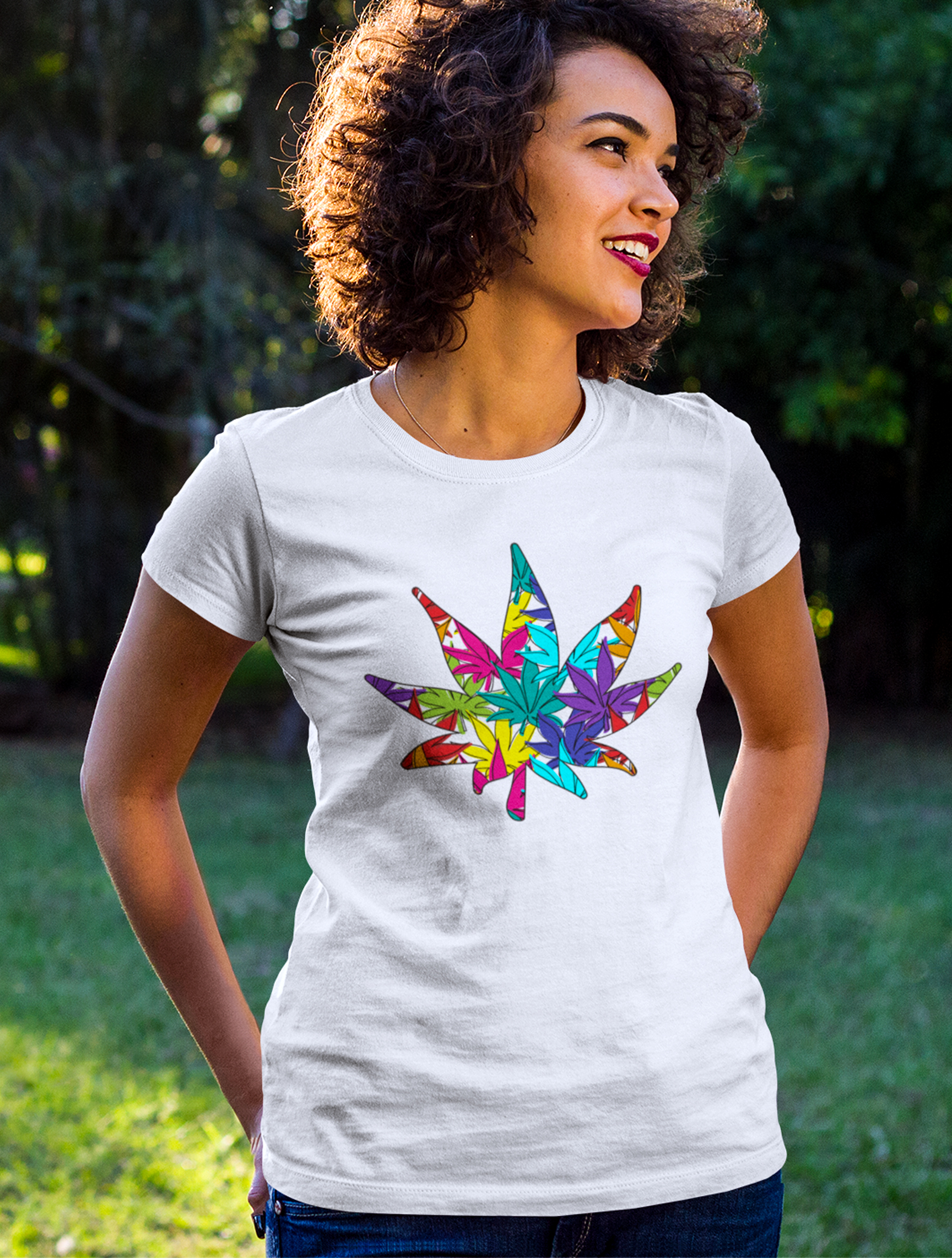 just get high_shirt_rainbow weed