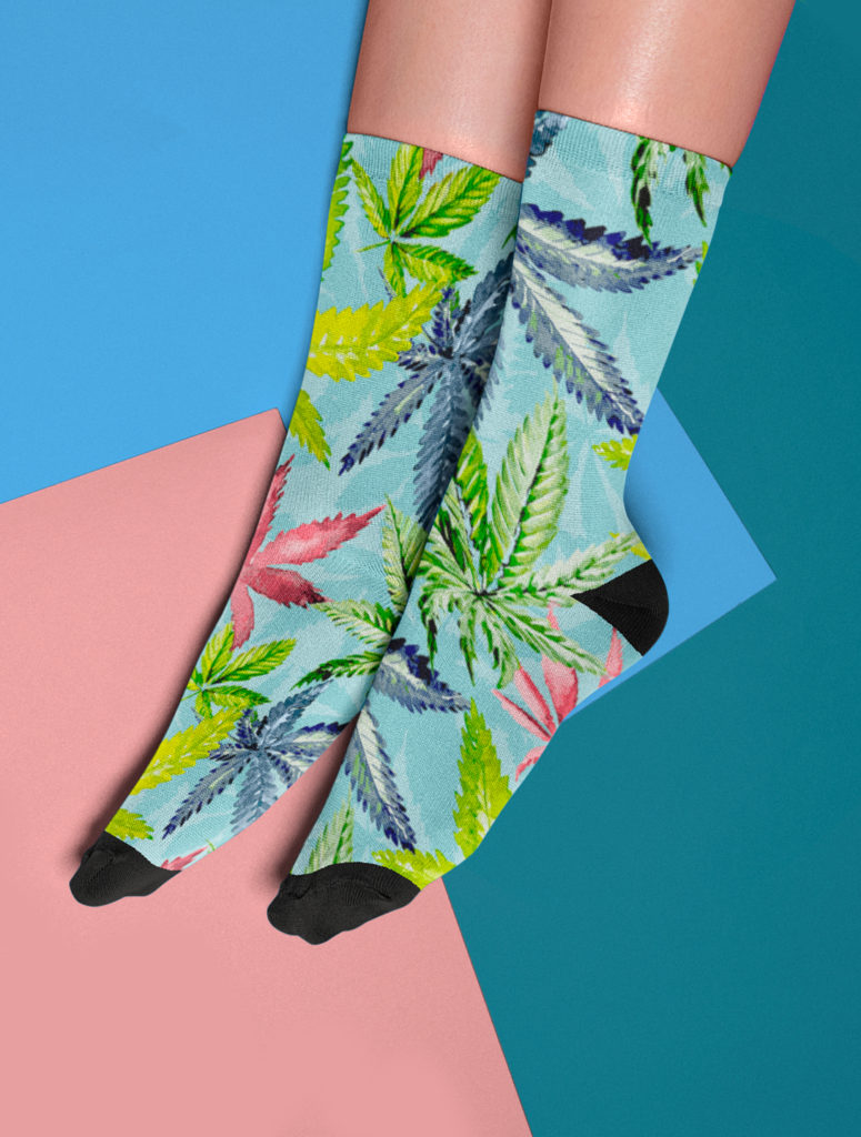 just get high_socks_tropical haze