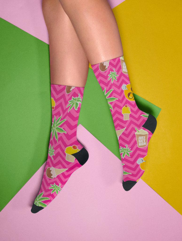 just get high_socks_zig zag summer