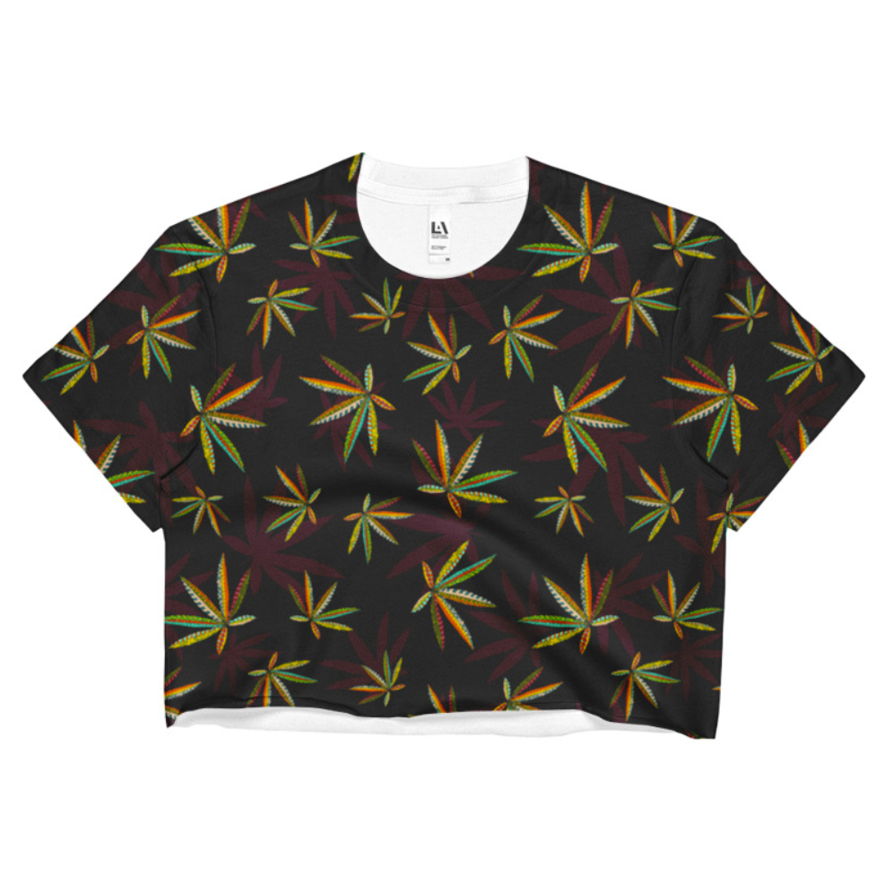 just get high_sublimation crop top_TRIBE VIBE