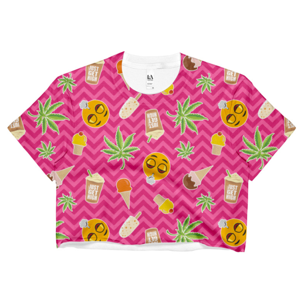 just get high_sublimation crop top_zig zag summer