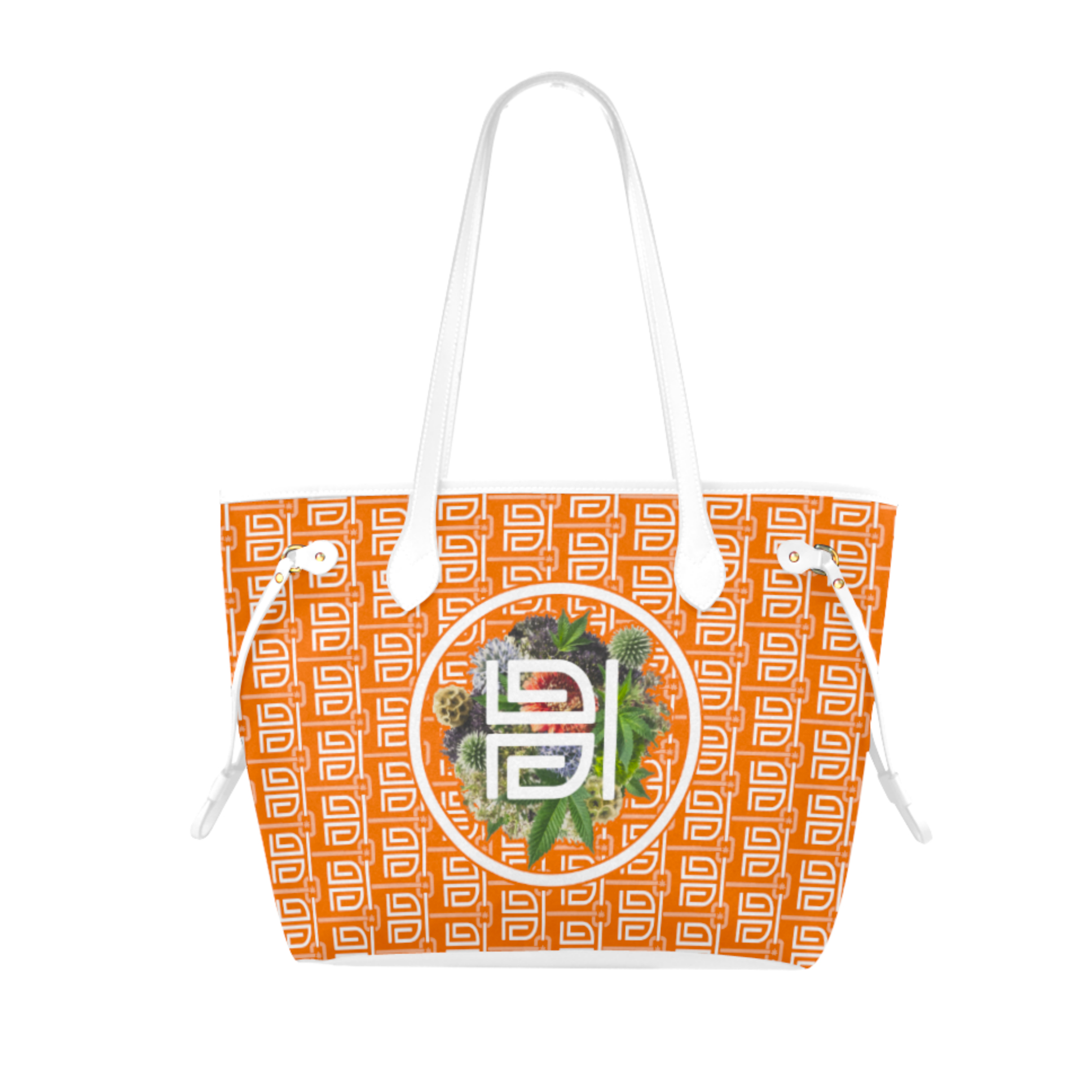 highest bitch_ just get high_fashion tote_orange a
