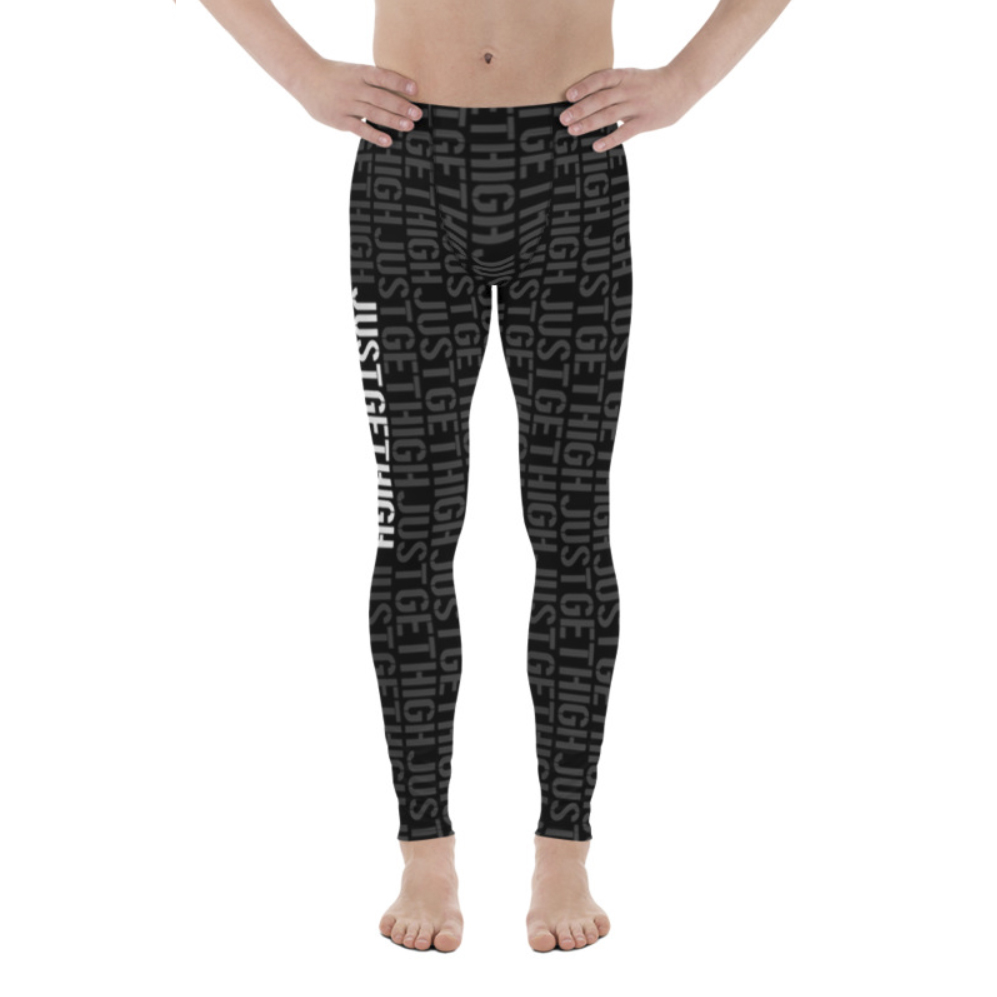 jgh stencil_mens leggings_just get high_front