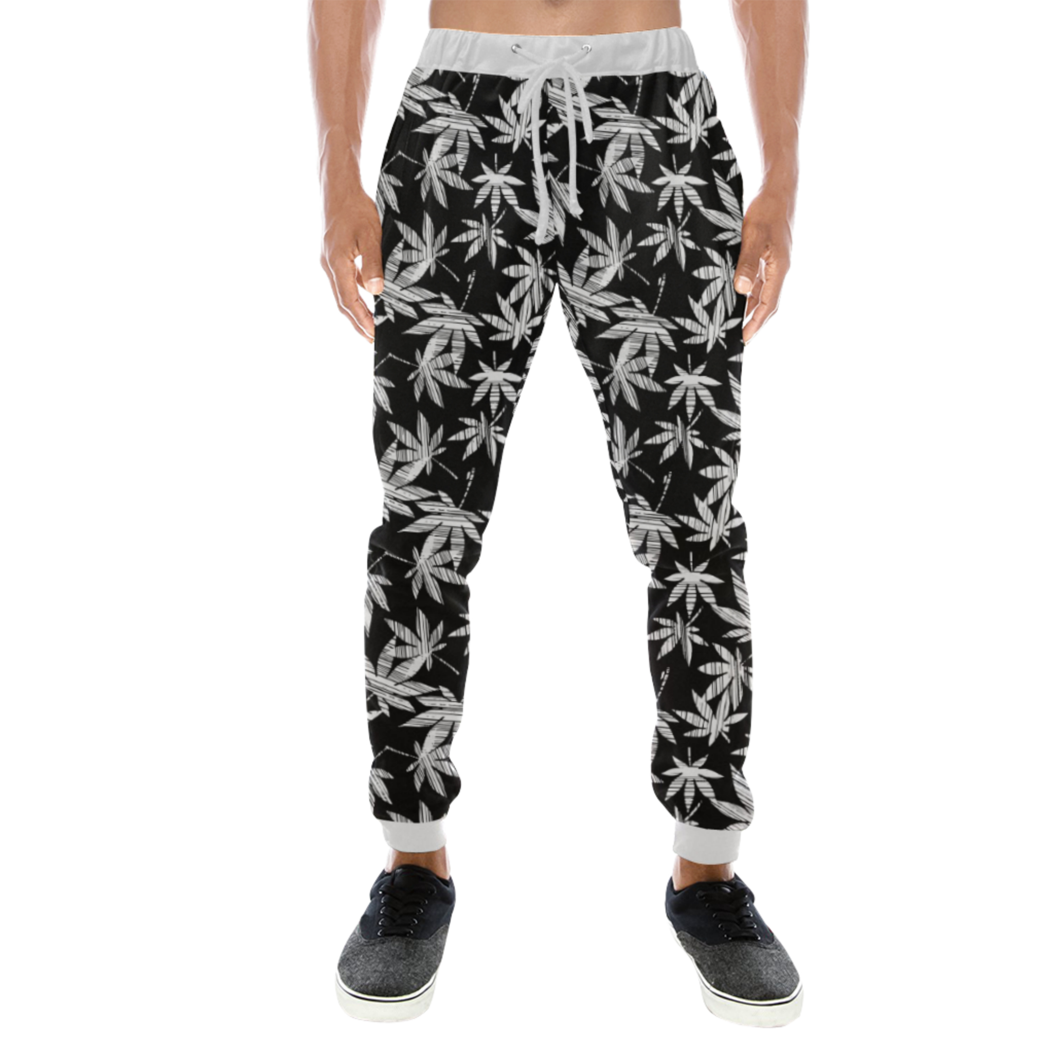 joggers_white waistband_just get high_hybrid_front