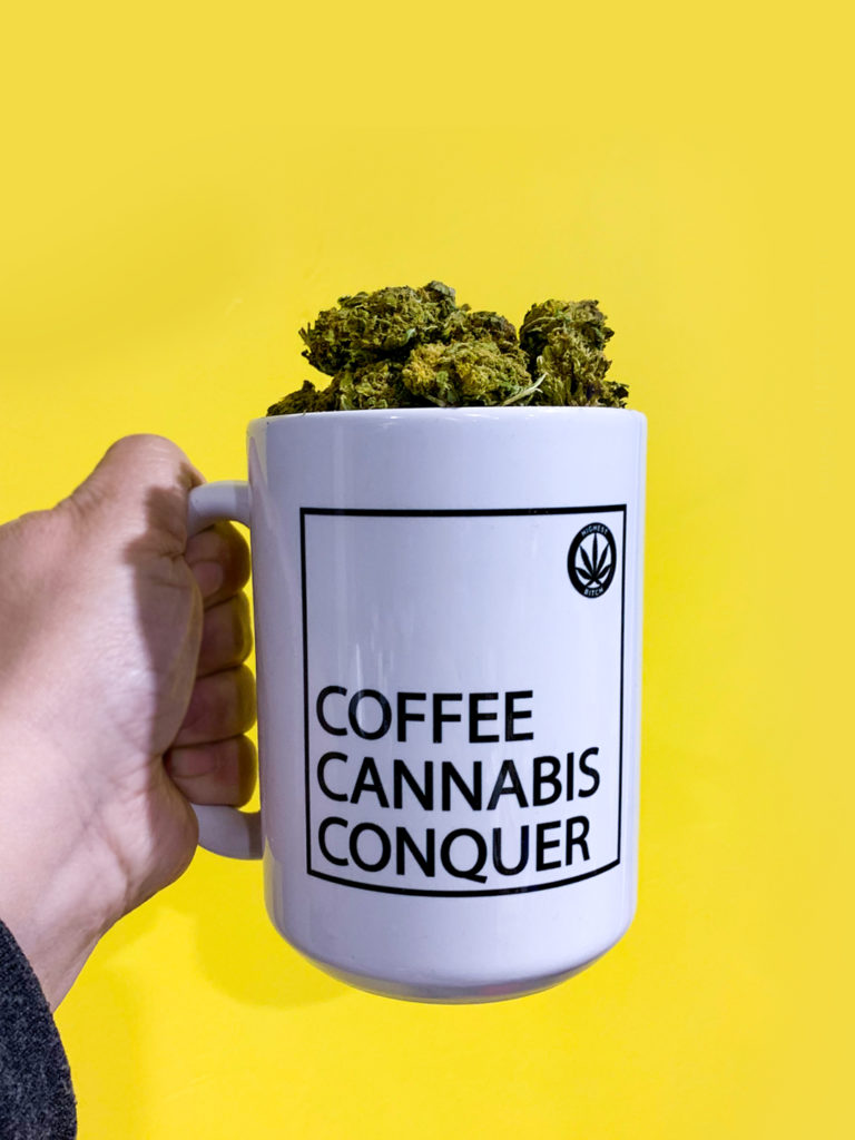 just get high_coffee mug_highest bitch coffee cannabis conquer