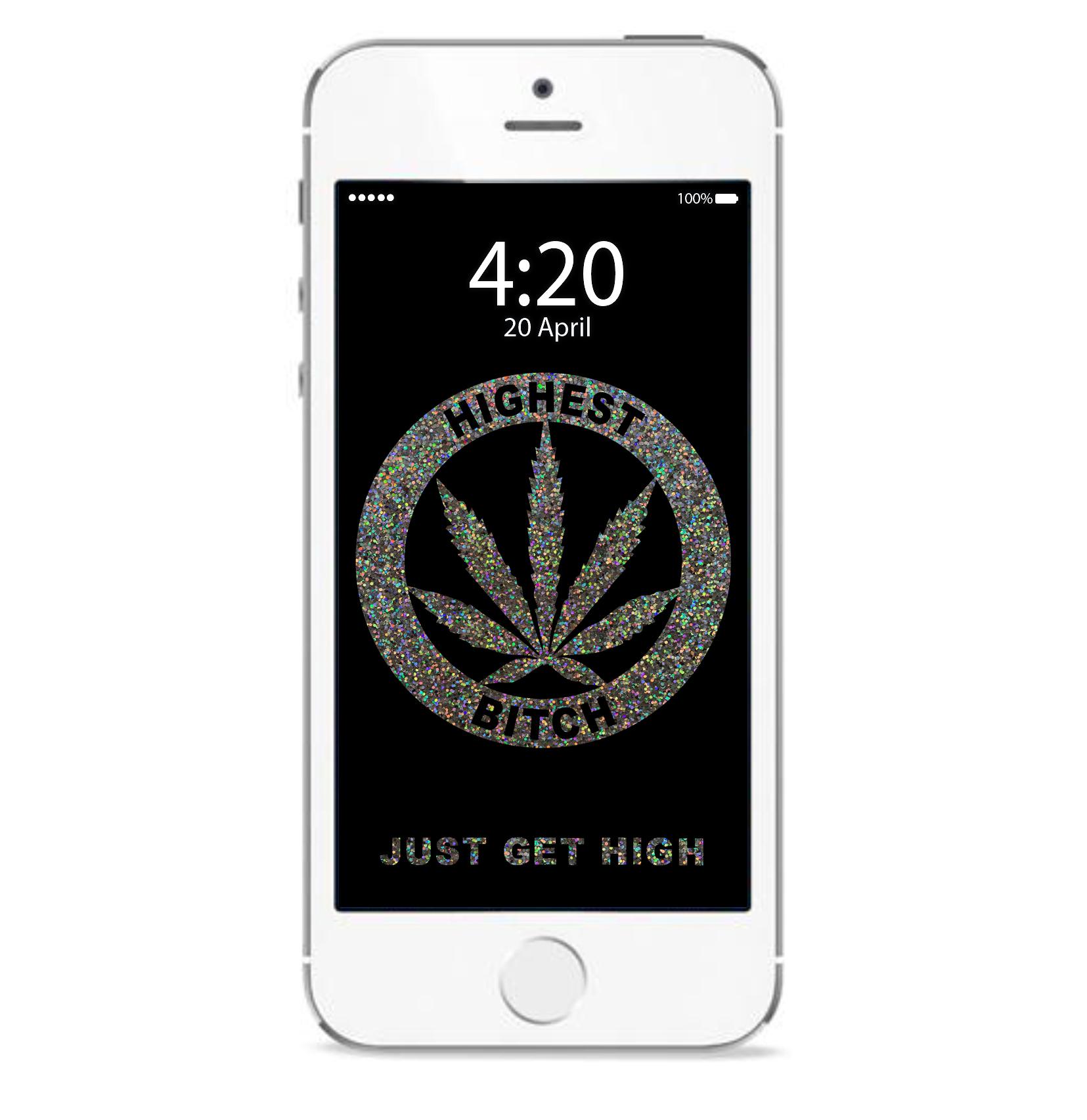 just get high_iphone_highest bitch glitter_mockup