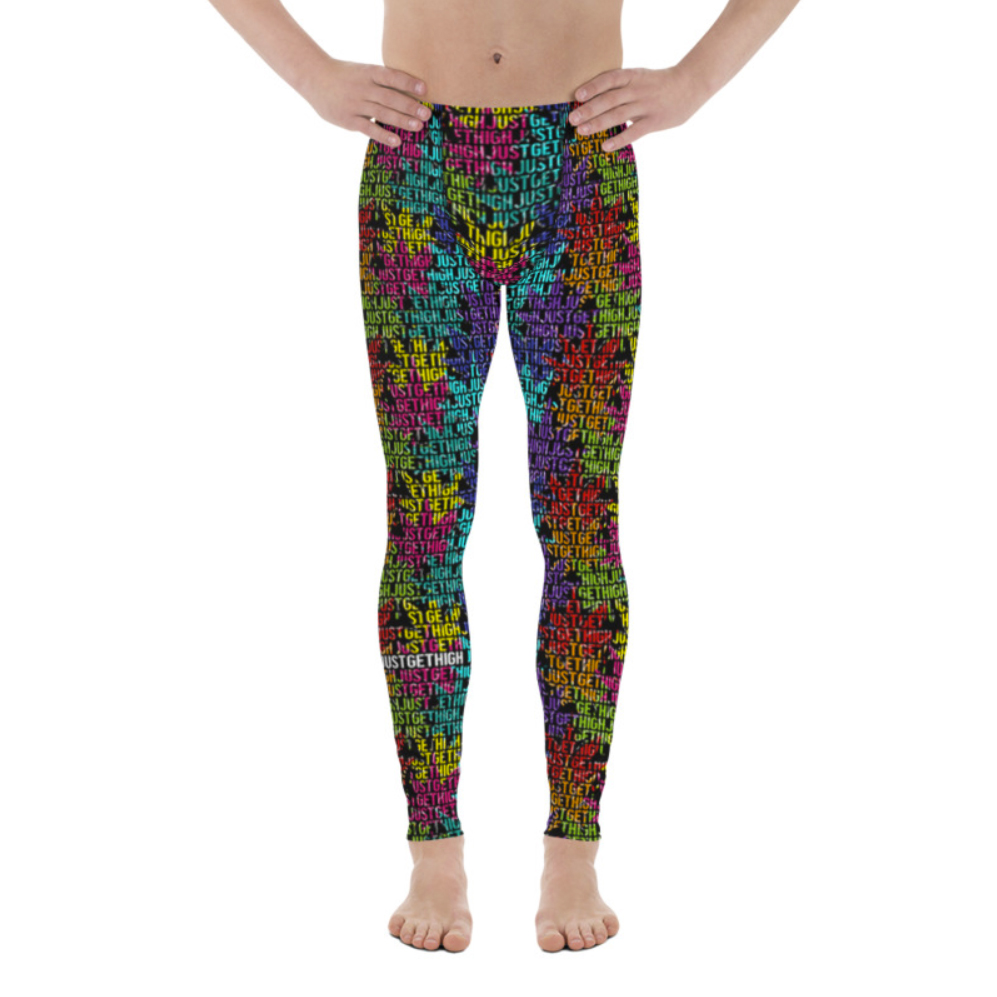rainbow_mens leggings_just get high_front