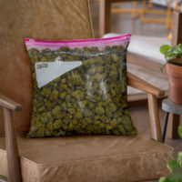 "THROW PILLOW: STASH ""FIRE"""