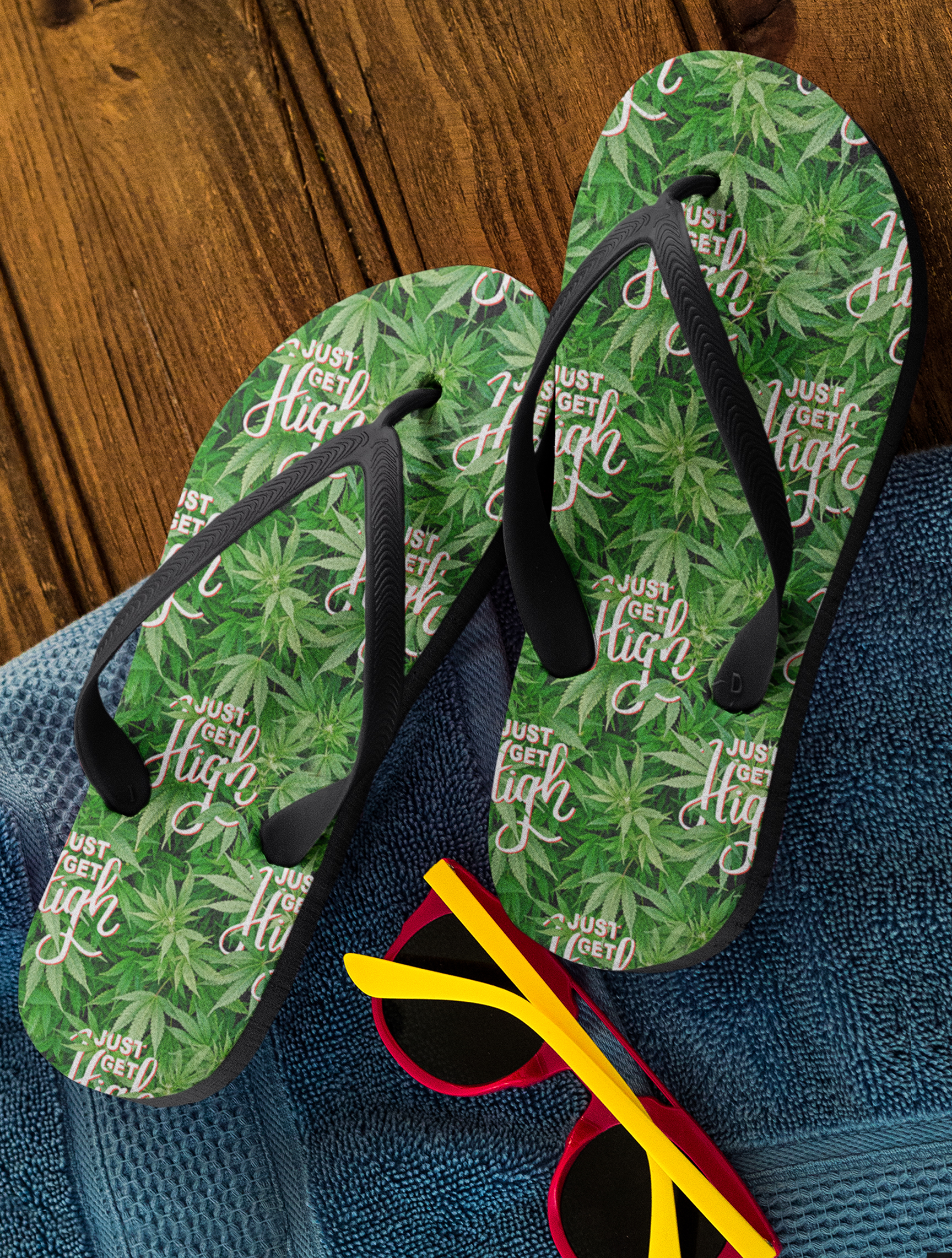 just get high_flip flops_jgh logo