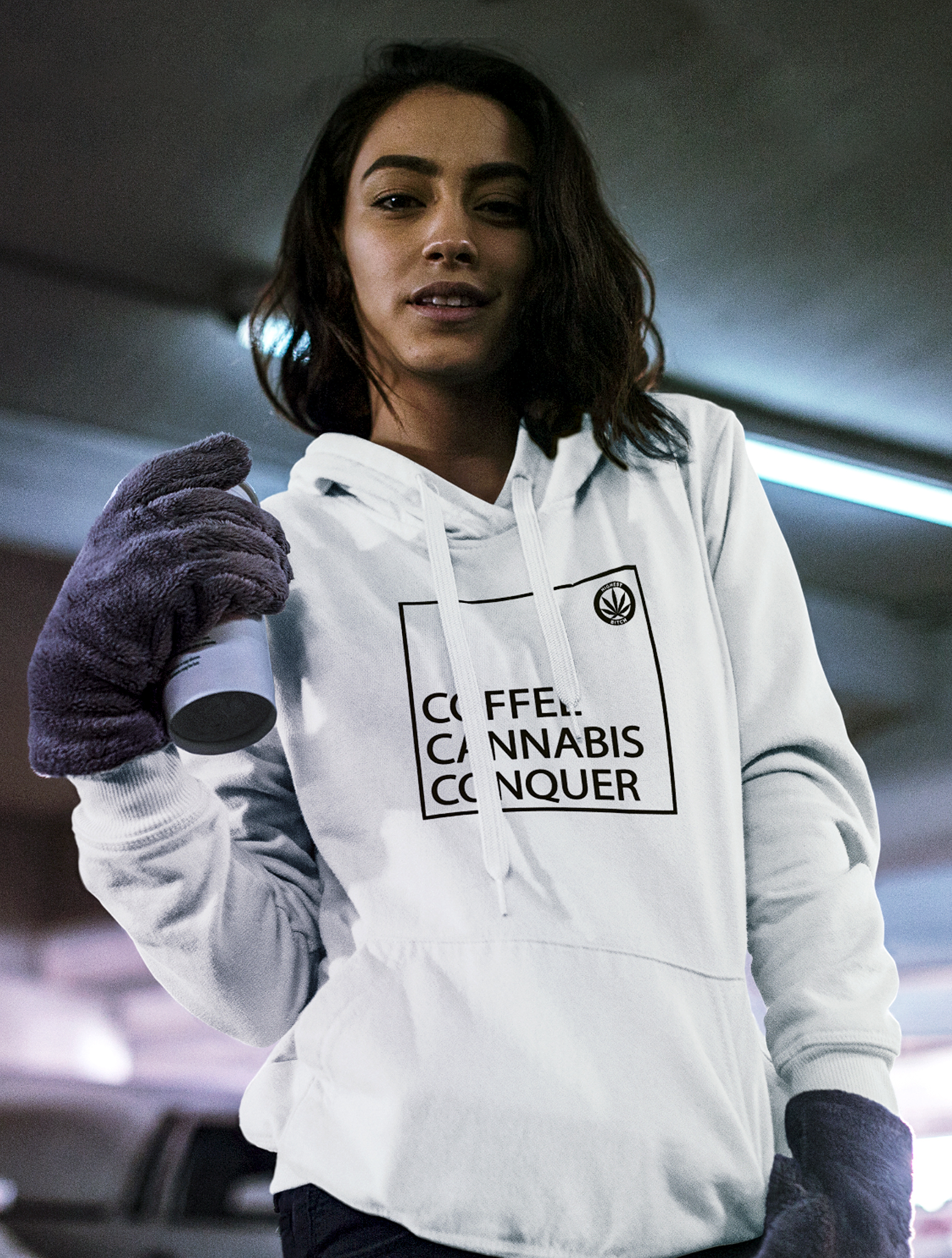 just get high_hoodie_coffee cannabis conquer