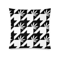 XL THROW PILLOW: HIGHEST BITCH • OVERSIZED HOUNDSTOOTH